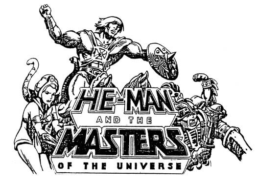 He-Man and the Masters of the Universe script logo